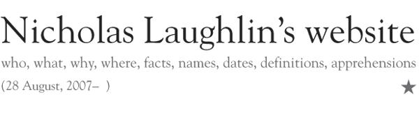 Nicholas Laughlin's       website